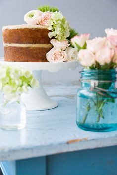 brown butter harvest cake with vanilla nut creme