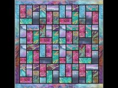 Batik Stained Glass Quilt Pattern Video - YouTube