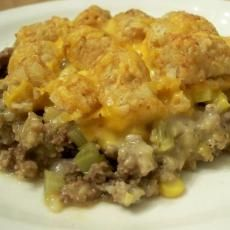 Tater Tot Casserole With Rotel, Cheddar and Velveeta