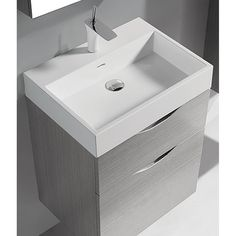 "Madeli Bolano 24"" Bathroom Vanity for Integrated Basin - Ash Grey"
