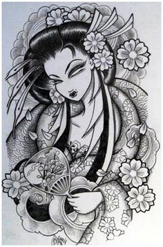 Japanese-Tattoo-Designs-Geisha1.jpg (654×993)