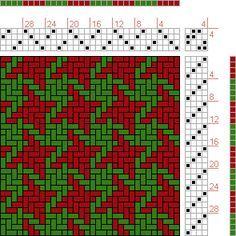 Hand Weaving Draft: Houndstooth, , 4S, 4T - Handweaving.net Hand Weaving and Draft Archive