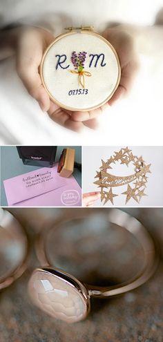 Wedding date in a hoop