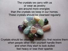 Crystal cleansing