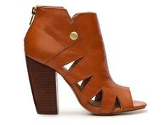 A peep toe bootie is the perfect transitional shoe, here the Kelsi Dagger Balldance Bootie #DSWShoeHookup #PinToWin