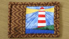 Simple Lighthouse Paper Piecing Pattern.