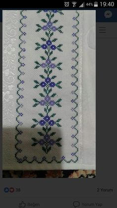 This Pin was discovered by Δαφ Cross Stitch Bookmarks, Cross Stitch Patterns, Embroidery Stitches, Embroidery Designs, Needlework, Diy And Crafts, Projects To Try, Lily, Crochet