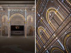 rem koolhaas frames monditalia entrance with swarovski la dolce vita illuminato #biennalearchitettura2014