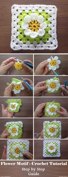 Flower Motif-Crochet Tutorial