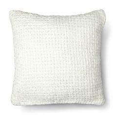 Threshold White Chunky Knit Metallic Pillow Aqua Bedroom Decor Bedrooms Guest
