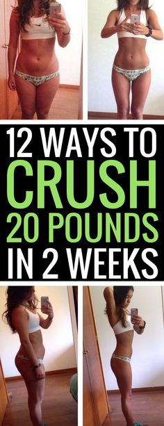 12 best ways to lose 20 pounds in just 14 days.