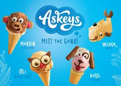 Askey's - Making Your Own Fun on Packaging of the World - Creative Package Design Gallery Ice Cream Van, Waffle Cones, Packaging Design Inspiration, Make Your Own, Creative Package, Waffles, Package Design, Teddy Bear, Classic