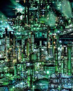#夜景#工場夜景#四日市コンビナート#工場萌え#うみてらす14#三重#lovers_nippon Industrial Photographs, Japan Architecture, Industrial Architecture, Oil Refinery, Photo Reference, Fantasy, Abandoned Places, Futuristic, City Photo