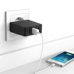 5V/7.2A 4 Ports USB Desktop Wall Charger Micro USB Charger Power Strip Adapter Socket For US/UK/ EU Plug Quick Charging Plug
