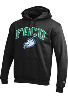 This cotton/polyester sweatshirt is styled to keep you cozy when temps are low, thanks to the hooded drawstring, pouch pocket, and rib-knit cuffs and hem. Florida Gulf Coast University, Hooded Sweatshirts, Hoodies, College Ready, Colleges, Eagles, Sweaters, Fashion, Moda
