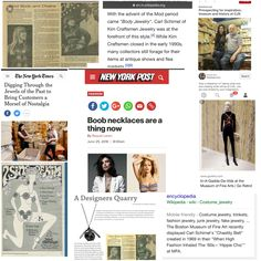 According to Raquel Laneri of New York Post  #boobnecklaces are now.  CJS Sales: Crafts, Jewelry, Supplies has the originals!  See how Carl Schimel of Kim Craftsmen did it then!  And then buy some #vintagejewelryparts to #rework #recycle #upcycle and design your own #bodyjewelry!
