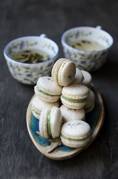 Jasmine Green Tea Macarons
