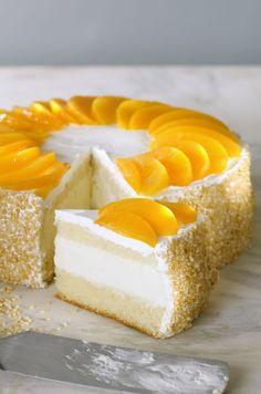 Postre Chaja Peach Meringue Cake Recipe From Uruguay