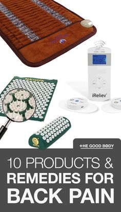 Here at The Good Body we've done a little of the hard work for you and put together our list of 10 of the best back pain relief products and remedies to help, as well as 4 free things you can try right now! #BackPain #PainRelief #Remedies #TheGoodBody Natural Pain Relief, Back Pain Relief, Free Things, Good Things, No Equipment Workout, Fitness Equipment, Pain Management, Nice Body, Hard Work