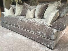 Velvet Grey Sofa ~❤️A❤️~