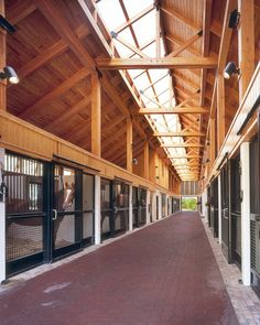 Can you imagine these stalls and aisle! dream-barn