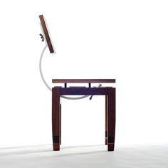 Love this sculptural chair by Daniel Moyer #furniture