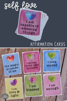 Self Love Self Care Printable Affirmation Cards - Positive Mantras for Reflection, Meditation Inspirational Message, Inspiring Messages, Positive Mantras, Self Love Affirmations, Affirmation Cards, Empowering Quotes, Message Card, Self Care, Reflection