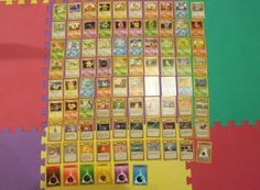 Pok mon Complete Sets 104046: Pokemon Base Set Complete Rare, Uncommon, Common 17 102 - 102 102 Nm No Holofoil -> BUY IT NOW ONLY: $40 on eBay!