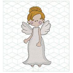 Dancing with Angels Quilt Block Set - 8x8 Bed Runner, Cutwork, Wall Hanger, Cushion Covers, Word Art, Blackwork, Machine Embroidery Designs, Quilt Blocks, Specs