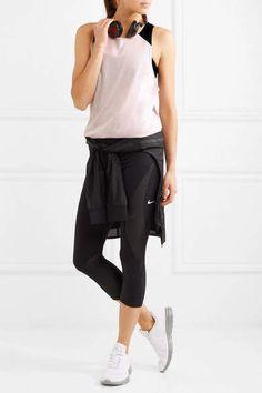 Nike - Nikelab Mesh-trimmed Dri-fit Stretch-jersey Tank - Blush #ad