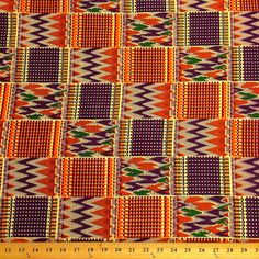 Kente African Print Fabric Cotton Print 44'' by FabricSupplier