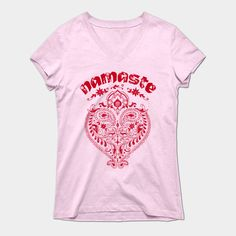 Namaste Indian Heart T-shirts, Tank Tops, Hoodies and More at TeePublic  #Namaste #Yoga #Tshirts #Indian #Heart #TeePublic