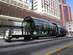 Located in Curitiba, Brazil, these bus station 'tubes' were designed in 1991. The town's mayor, Jaime Lerner, also an architect, designed these as he believed the town was being overshadowed by Sao Paulo.