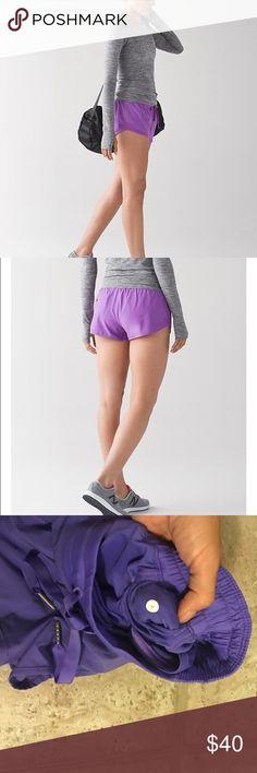 Lululemon Hotty hot shorts size (4) power purple NWOT. Lululemon Hotty hot shorts (regular not long) color: power purple size: 4. Worn once. lululemon athletica Shorts