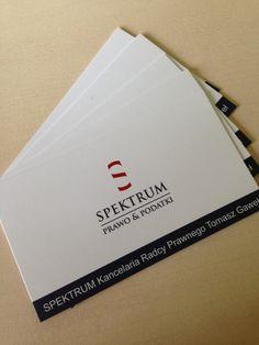 wizytówki Spektrum (projekt, druk M4Bizz)