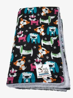 Colorful Dog Blanket, Puppy Bedding, Blanket for Baby, Dachshund Dogs, Crate Bed,Dog Party, Made in Colorado, Gifts under 30, Couch Throw by ComfyPetPads on Etsy