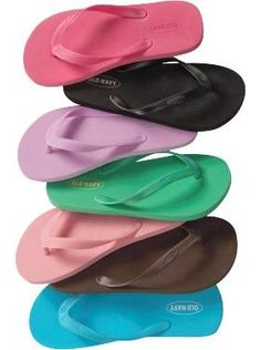 Love these flip flops, cheap and comfy.  Need a pair in every color!