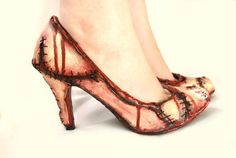 Rockabilly Halloween Witches Zombie flesh high heel by NixxiRose