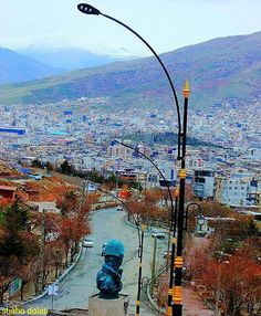 Beautiful Baneh City, Kurdistan Province, Iran.