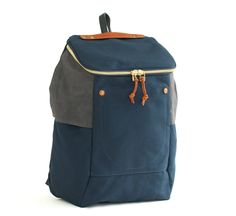 Navy and Tan PX Backpack by Southern Field Industries - shop at Roztayger