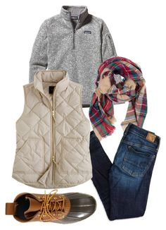 """""""Cold fall day"""" by camillabeeley on Polyvore featuring Patagonia, Look by M, American Eagle Outfitters, J.Crew and L.L.Bean"""