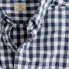 Basics. I see this shirt often and I have a lesser version with smaller checks from Uniqlo...but I still want it. The fit looks great on people.
