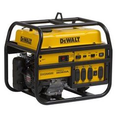DEWALT Gasoline Powered Manual Start Portable Generator with Honda Engine is designed with the professional contractor or rental operator in mind.