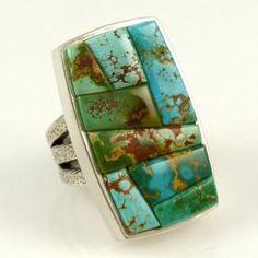 Royston Inlay Ring by Noah Pfeffer - Ethnic Jewelry, Boho Jewelry, Jewelry Rings, Unique Jewelry, Jewelery, Silver Jewelry, Fine Jewelry, Jewelry Making, Handmade Rings