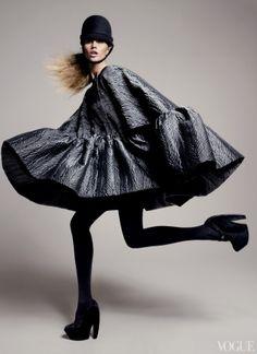 Midnight Run - Balenciaga by Nicolas Ghesquière  Photographed by David Sims for Vogue