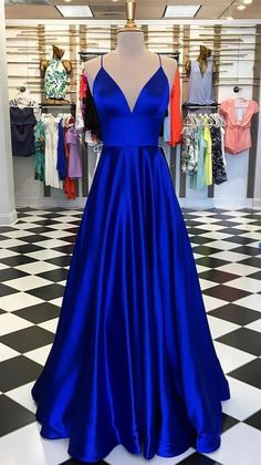 Royal Blue Prom Dresses, Prom Dresses Two Piece, Plus Size Formal Dresses, Simple Prom Dress, Elegant Dresses, Formal Gowns, Formal Wear, Straps Prom Dresses, Cheap Prom Dresses