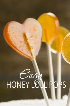 Who doesn't love a yummy lollipop! Whether for the kids, yourself, or a gift, these easy honey lollipops are a fun treat to make with your kids anytime of the year!