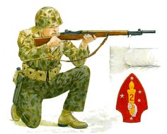 U.S.M.C. -  1ª class marine, 8° Marines Battalion, 2ª Marines Division; Betio 1943. Mike Chappell