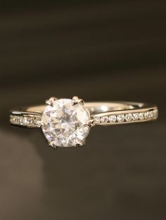 Ritani - Engagement Ring - at - London Jewelers ...  This one is GORGEOUS!!  I loooove it <3 perfect if princess cut!!