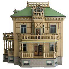 Antique German Christian HACKER large mansion DOLLS House from sondrakruegerantiques on Ruby Lane